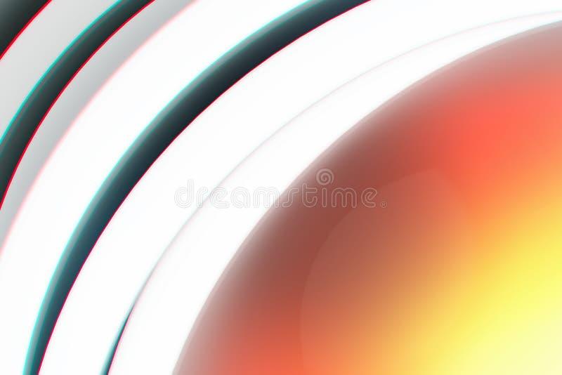Élément de conception de plan rapproché d'aberration chromatique de lentille de cru illustration de vecteur