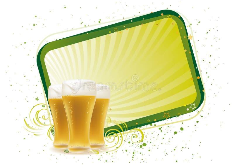 élément de conception pour la bière illustration stock