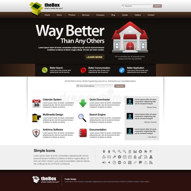 Élément de descripteur de conception de Web 14 (thème foncé) Vect illustration libre de droits