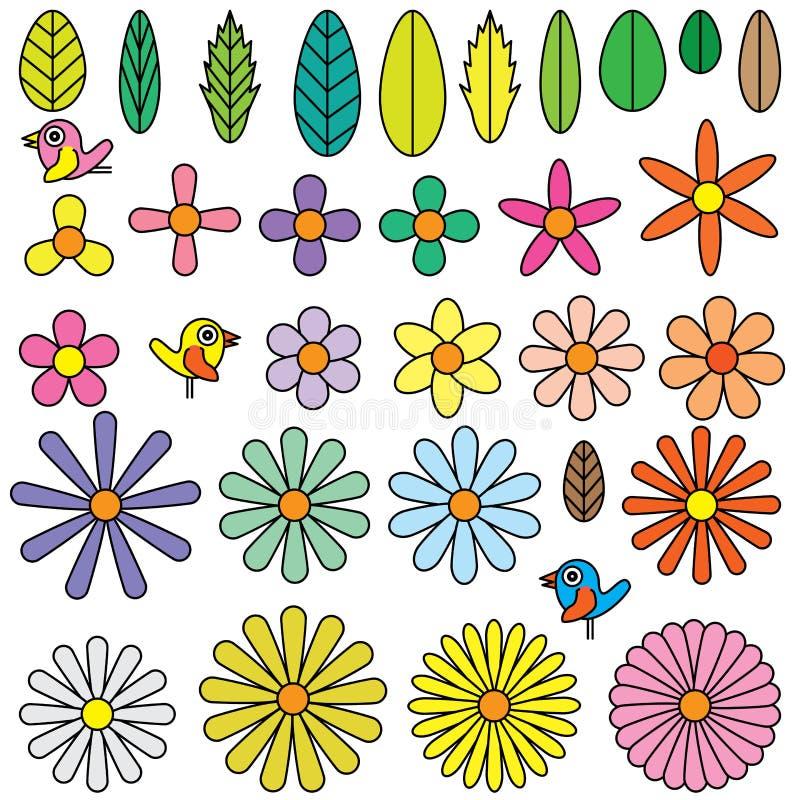 Élément de forme de fleurs illustration libre de droits
