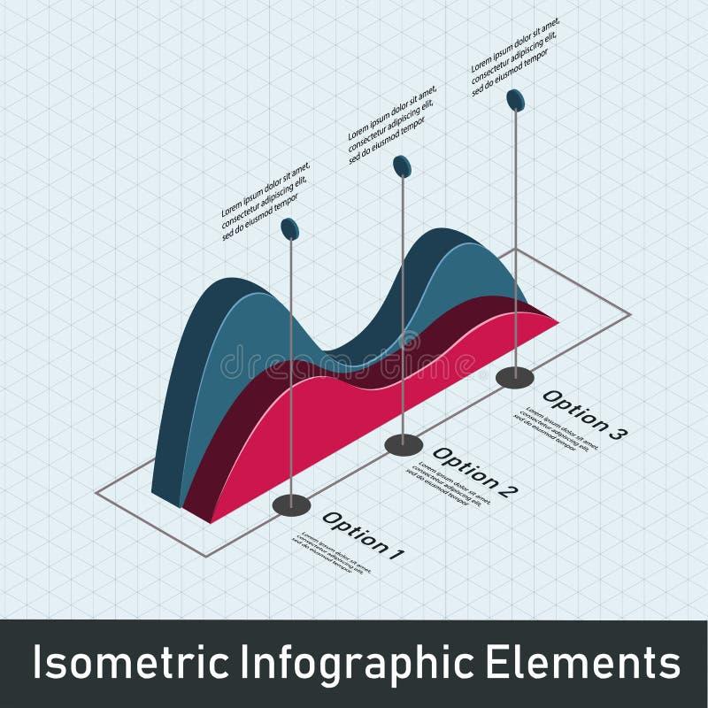 Élément de graphique de données illustration de vecteur