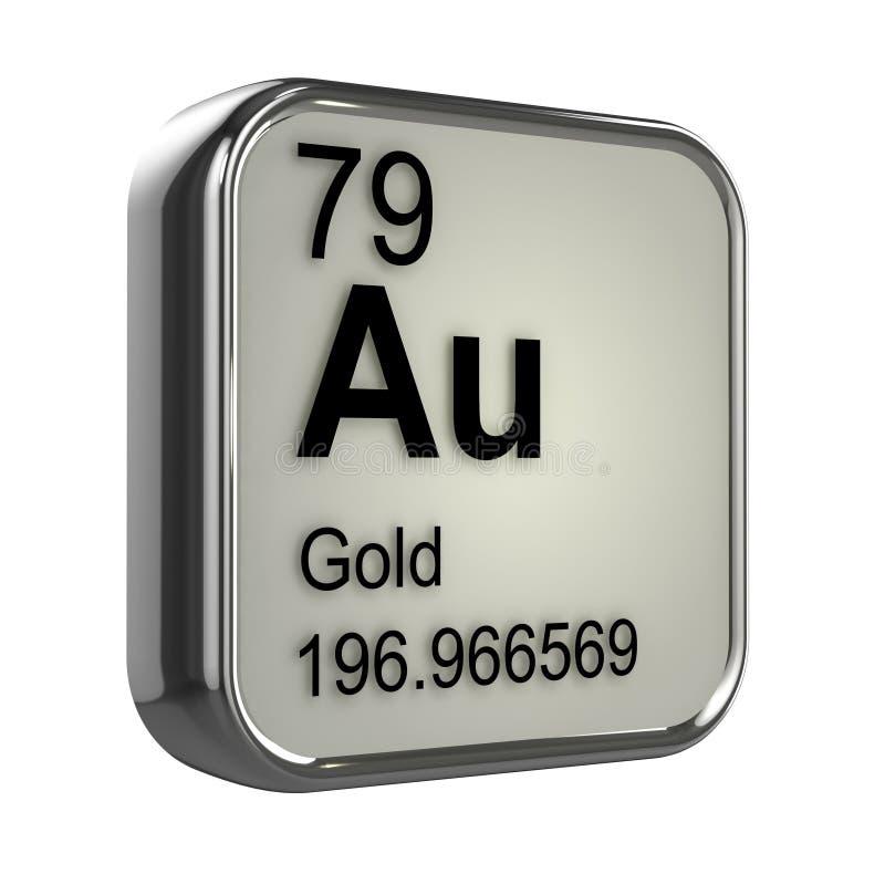 élément de l'or 3d illustration de vecteur