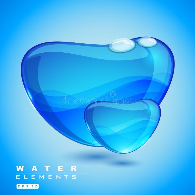 Élément de l'eau de vecteur illustration stock