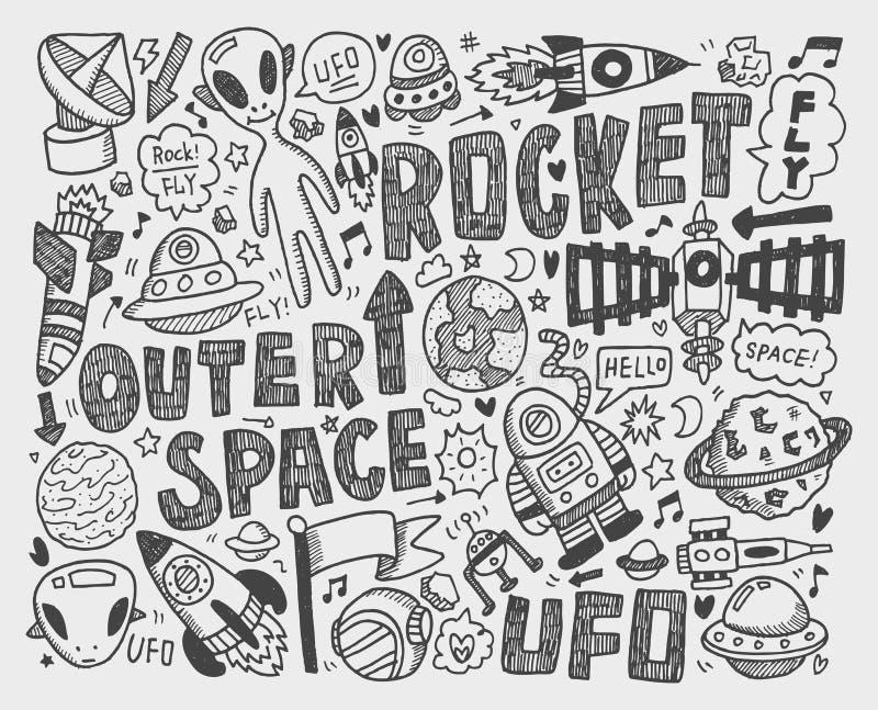 Élément de l'espace de griffonnage illustration stock
