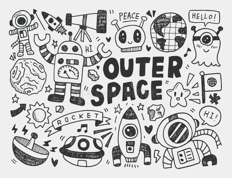 Élément de l'espace de griffonnage illustration de vecteur