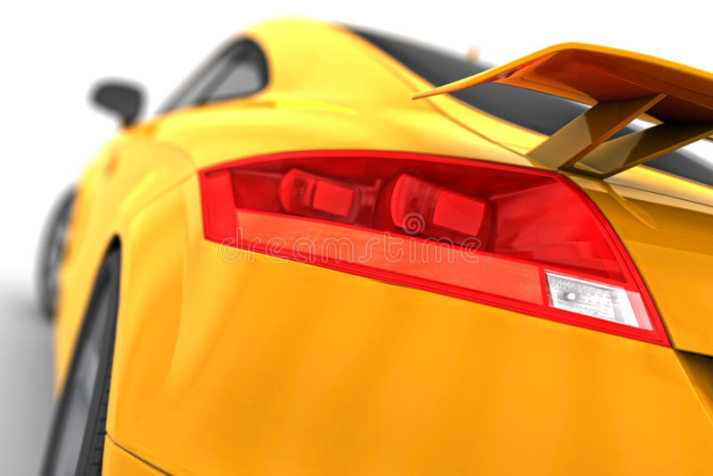 Élément de lumière de frein d'Audi TTT illustration de vecteur