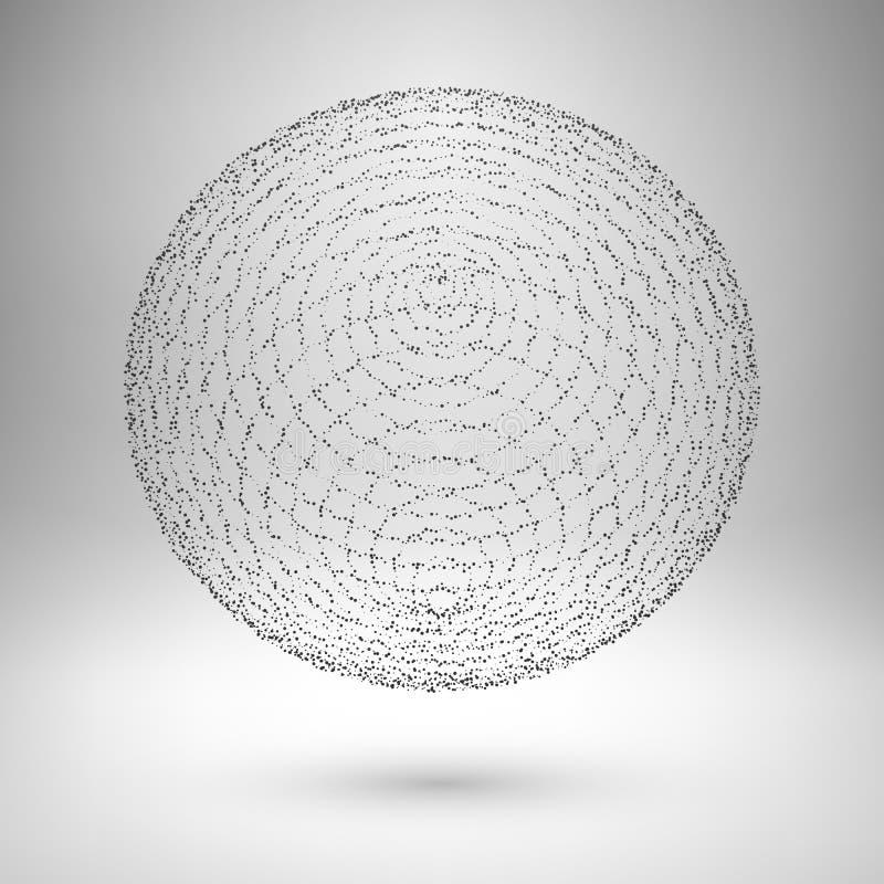 Élément de maille de Wireframe Se composer de sphère illustration de vecteur