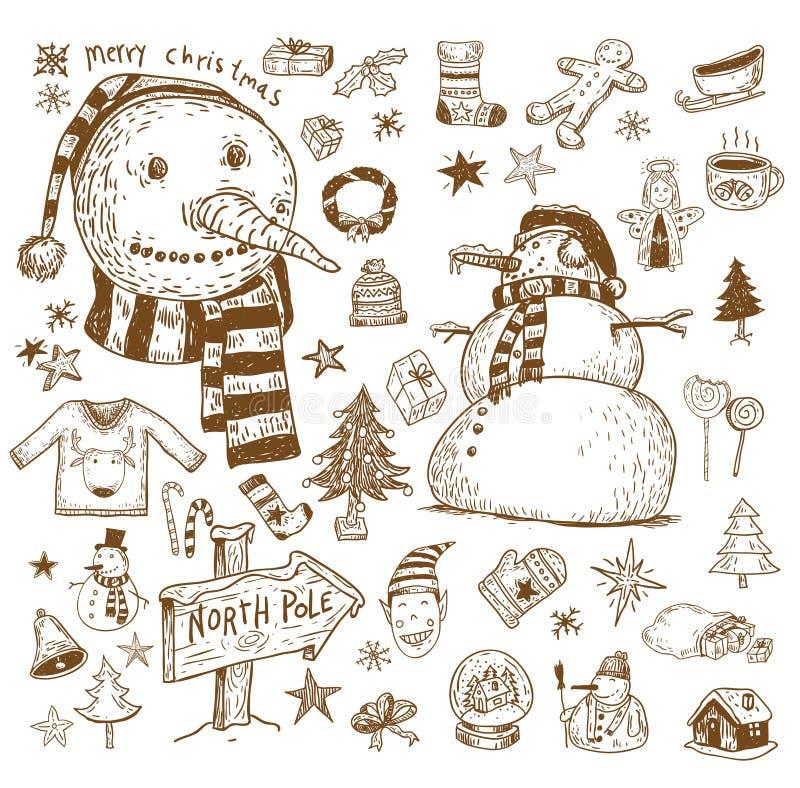Élément de Noël de griffonnage Illustration de vecteur illustration stock
