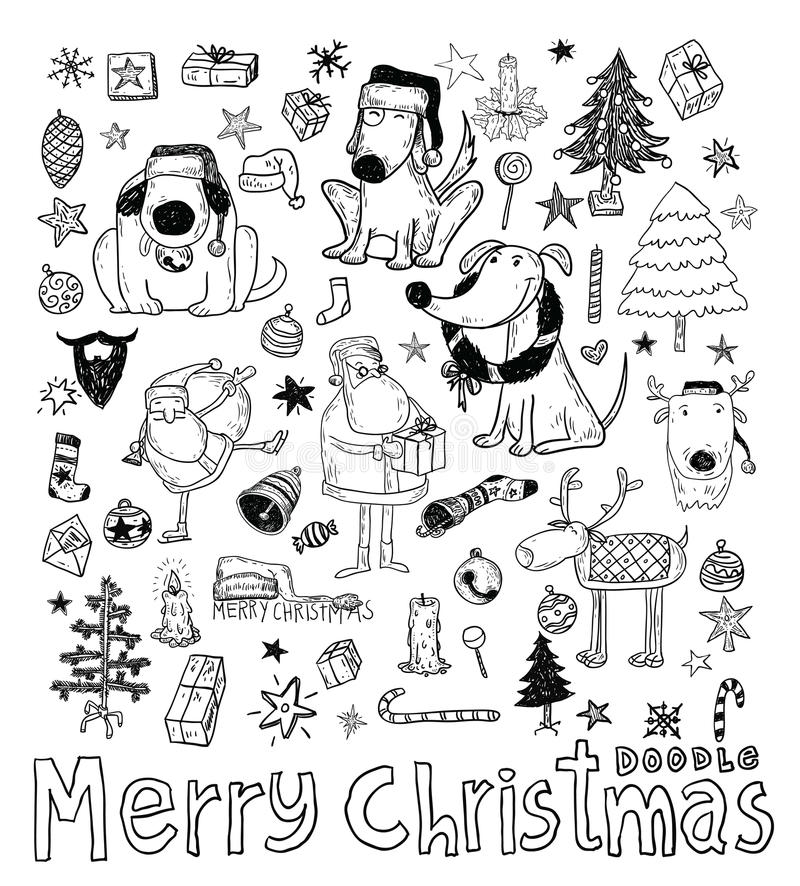 Élément de Noël de griffonnage Illustration de vecteur illustration de vecteur