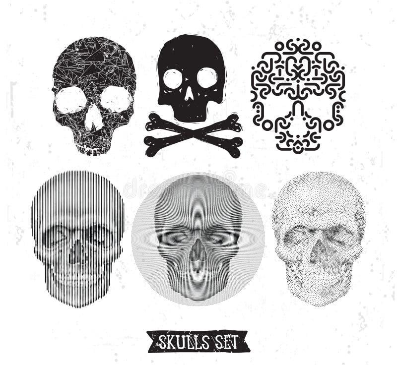 Élément de scénographie de crâne illustration libre de droits