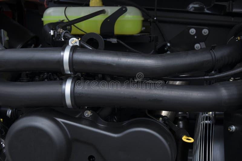 Élément de système de moteur de nouveau tracteur agricole ou cartel ou moissonneuse moderne image stock
