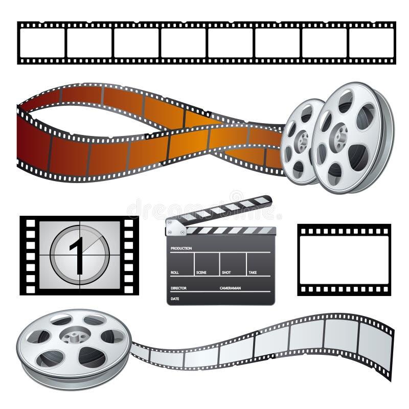 élément de thèmes de film illustration libre de droits