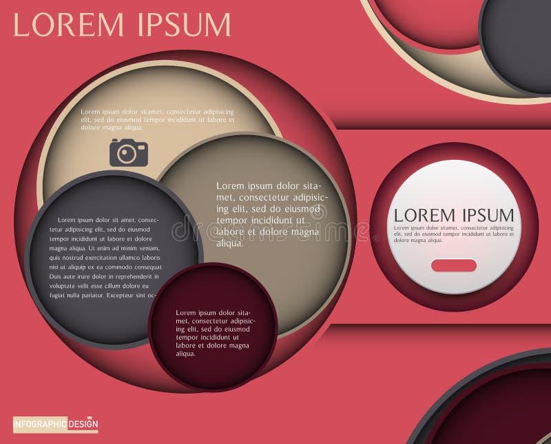 Élément de vecteur pour la conception, la présentation et le diagramme d'Infographic photos libres de droits