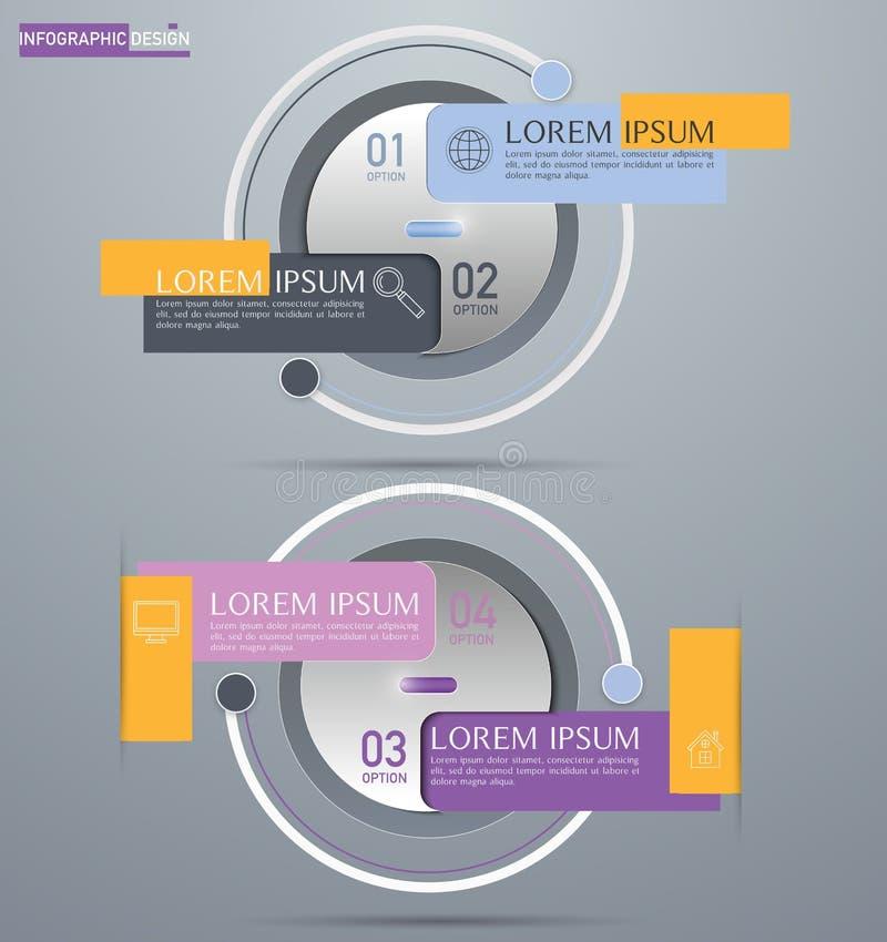 Élément de vecteur pour la conception, la présentation et le diagramme d'Infographic photo libre de droits