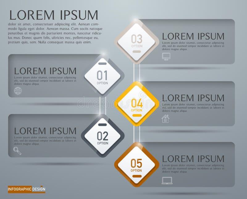 Élément de vecteur pour la conception, la présentation et le diagramme d'Infographic image libre de droits