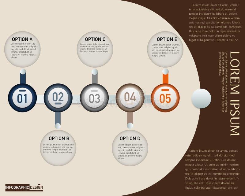 Élément de vecteur pour le rouge de thème de conception d'Infographic, la présentation et le diagramme, fond abstrait images libres de droits