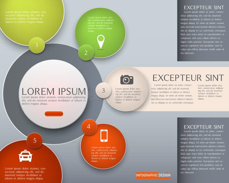 Élément de vecteur pour le rouge de thème de conception d'Infographic, présentation et photos libres de droits