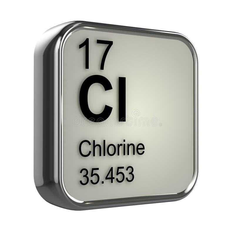 élément du chlore 3d illustration libre de droits