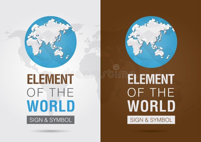 Élément du monde Signage de symbole d'icône Creativ illustration de vecteur