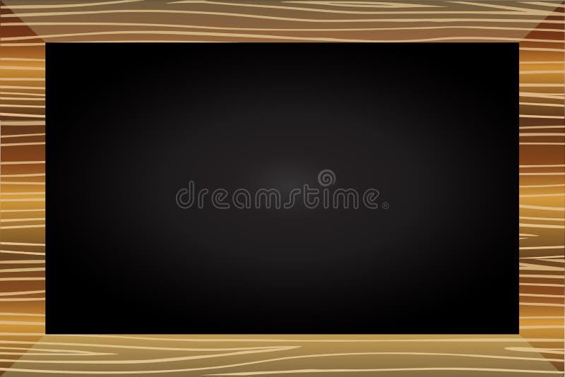 Élément en bois de vecteur de tableau noir illustration de vecteur
