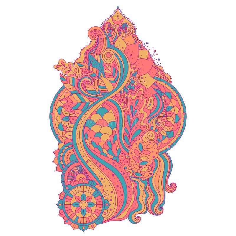 Élément ethnique d'art de boho illustration stock