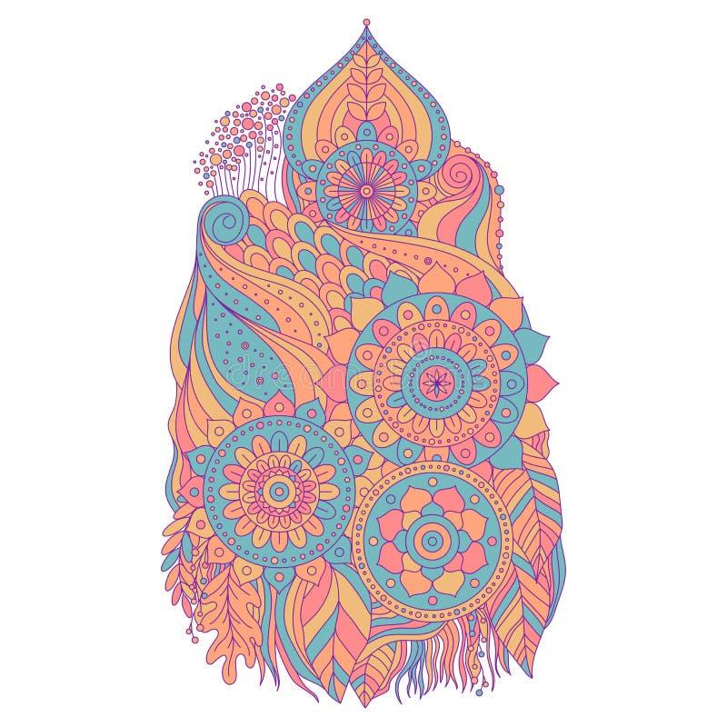 Élément ethnique d'art de boho illustration de vecteur