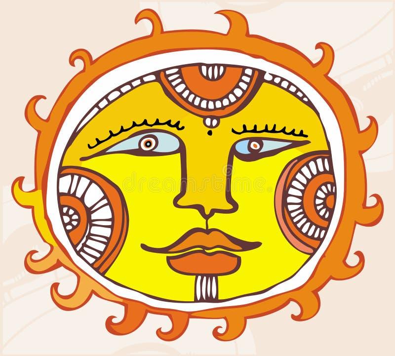 Élément ethnique de conception de Sun. illustration libre de droits