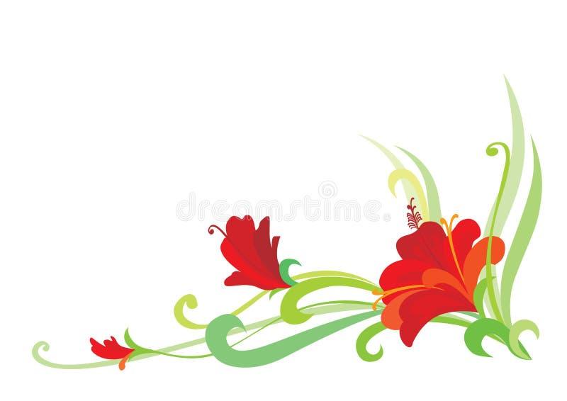 Élément floral illustration libre de droits