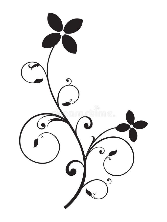 Élément floral abstrait illustration de vecteur