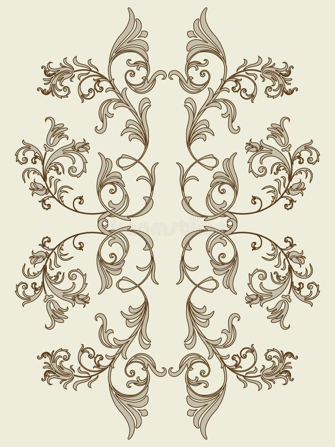 Élément floral de cru pour la texture sans joint illustration libre de droits
