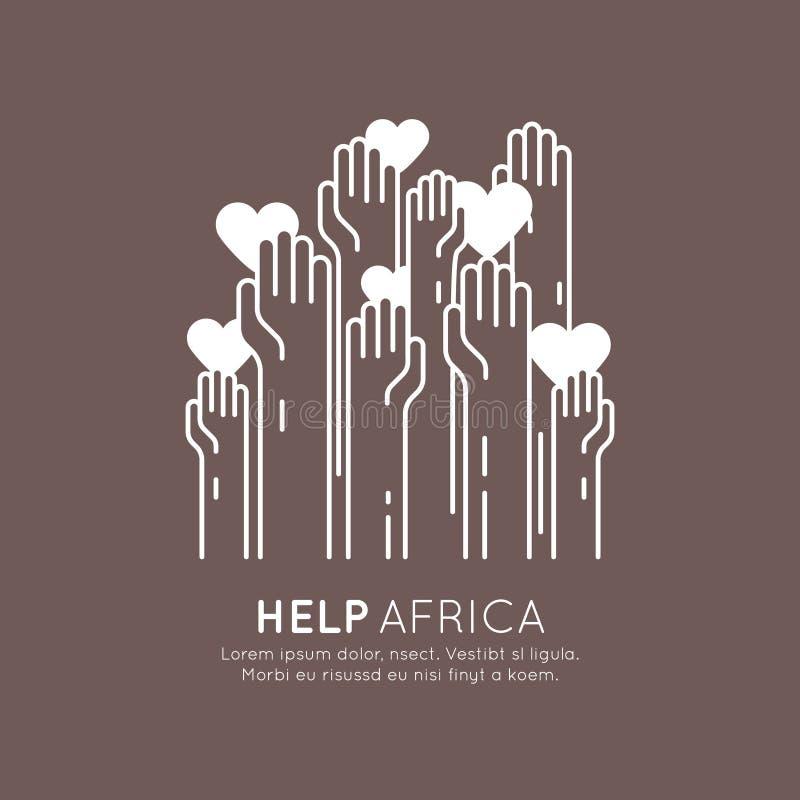 Élément graphique pour les organisations à but non lucratif et le centre de donation Symbole de collecte de fonds Label de projet illustration libre de droits