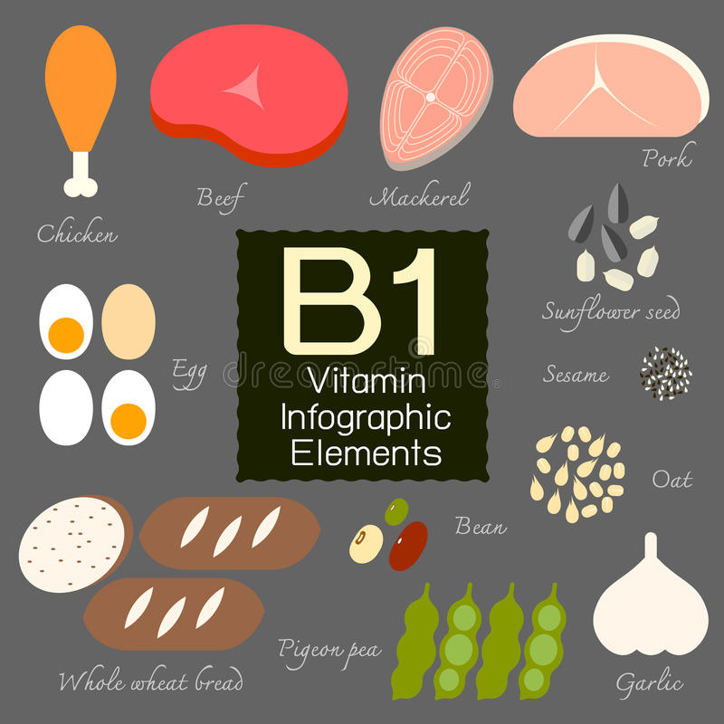 Élément infographic de la vitamine B1 illustration de vecteur