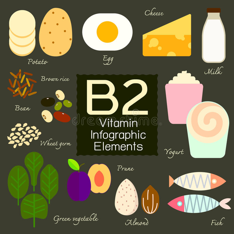 Élément infographic de la vitamine B2 illustration de vecteur
