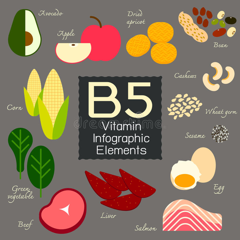 Élément infographic de la vitamine B5 illustration stock