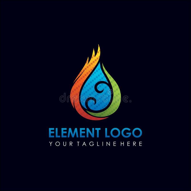 Élément Logo Design de l'eau et du feu Illustrateur ENV de vecteur 10 illustration stock