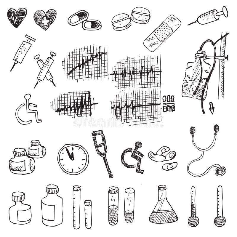 Élément médical d'attraction de main   illustration stock