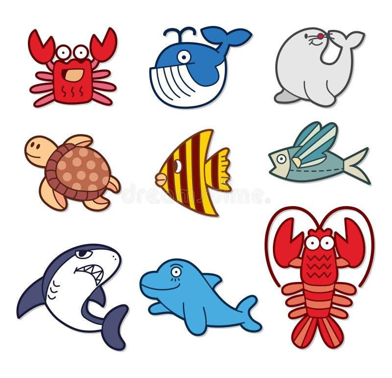 Élément mignon de poissons illustration stock