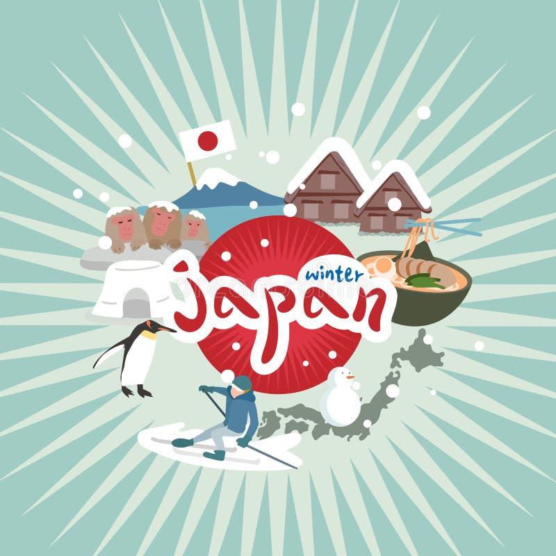 Élément mignon du Japon de bande dessinée illustration de vecteur