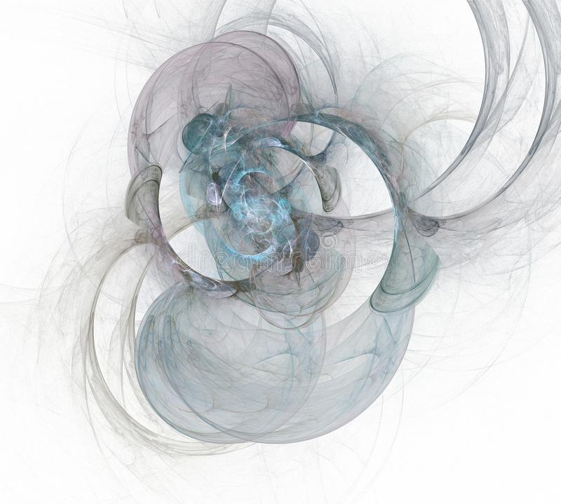Élément multicolore abstrait de fond sur le blanc Illustration dynamique des courbes et des grilles Graphiques détaillés de fract illustration libre de droits