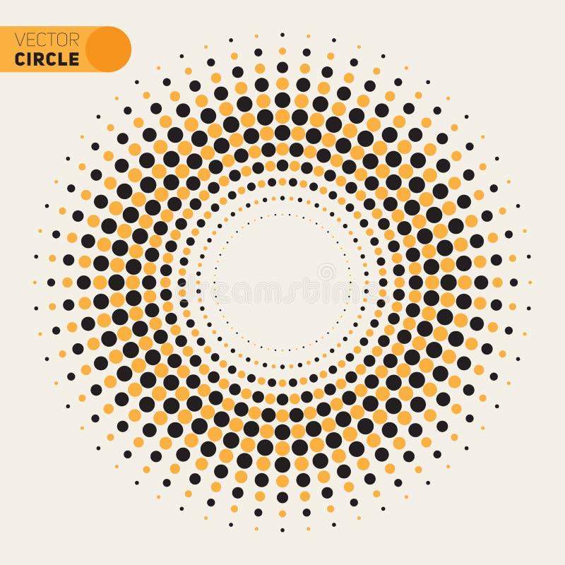 Élément noir et blanc de conception de cercle de spirale de Phyllotaxis de vecteur illustration libre de droits