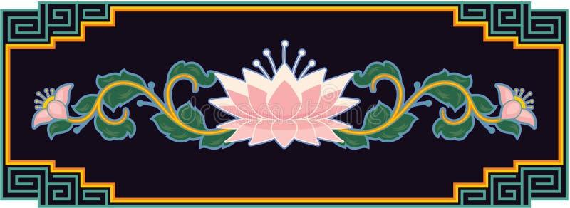 Élément oriental de conception de lotus illustration stock
