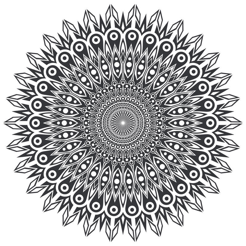 Download Élément Ornemental Rond De Conception Illustration de Vecteur - Illustration du motif, noir: 77158844