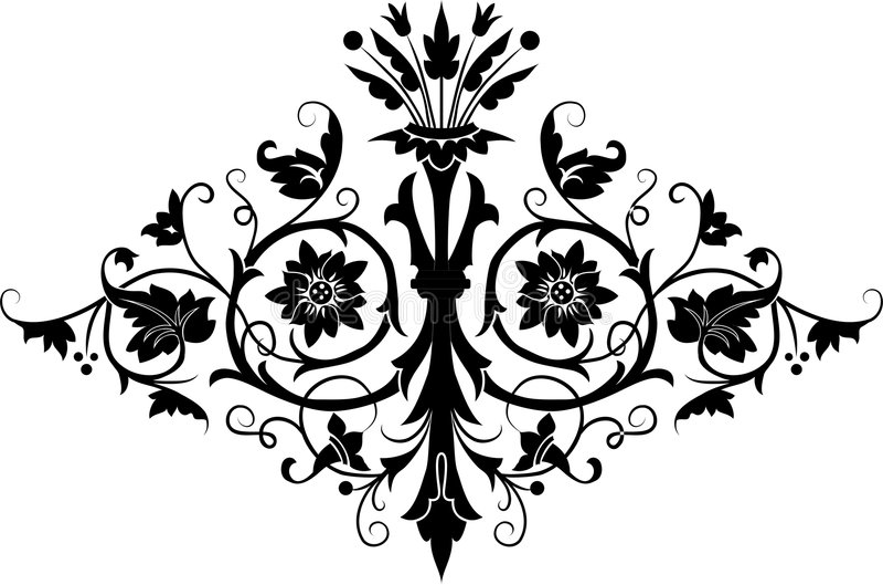 Élément pour la conception, fleur, vecteur illustration stock