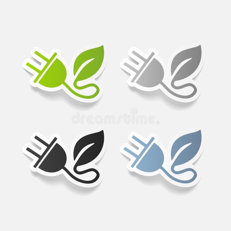 Élément réaliste de conception : feuille de prise d'eco illustration de vecteur