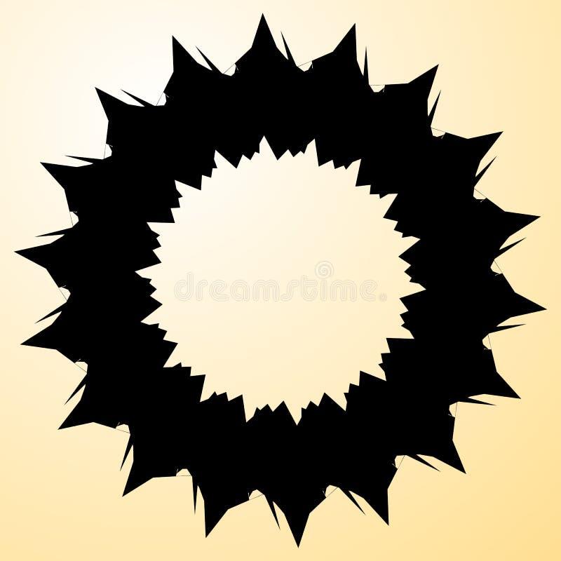 Élément radial géométrique Géométrique concentrique et radial abstrait illustration libre de droits