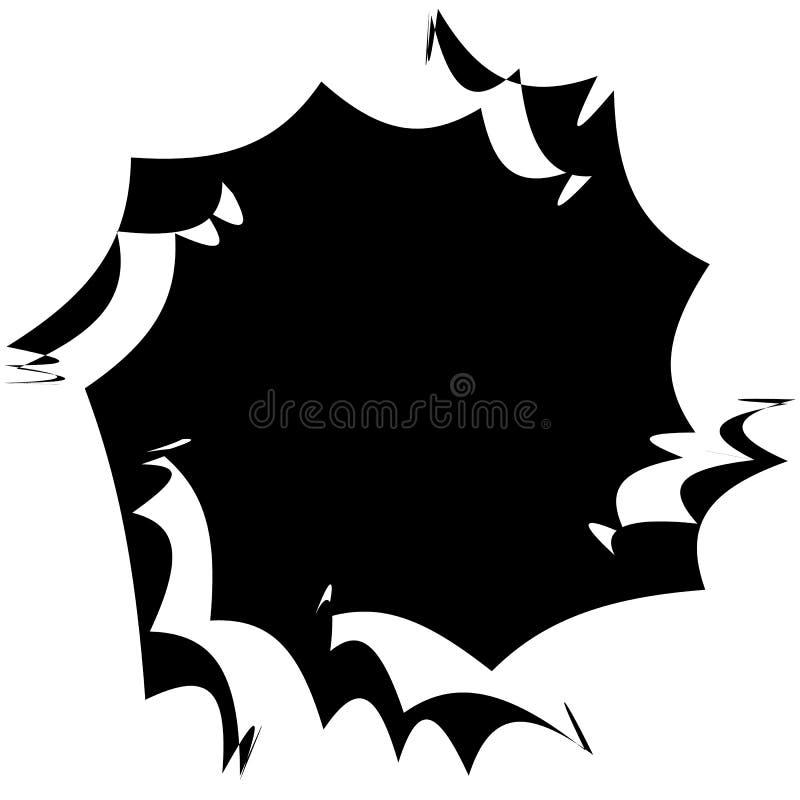 Élément radial géométrique Géométrique concentrique et radial abstrait illustration stock