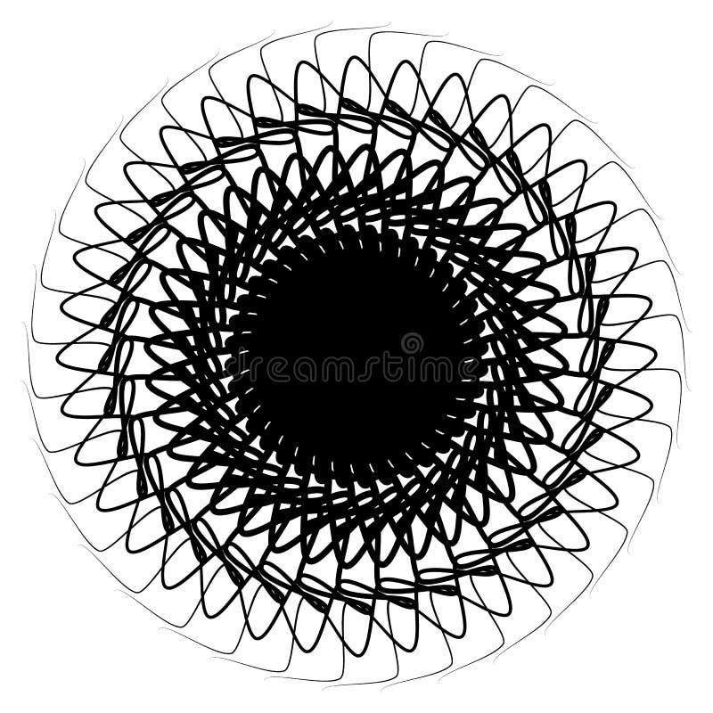 Élément radial géométrique Géométrique concentrique et radial abstrait illustration de vecteur