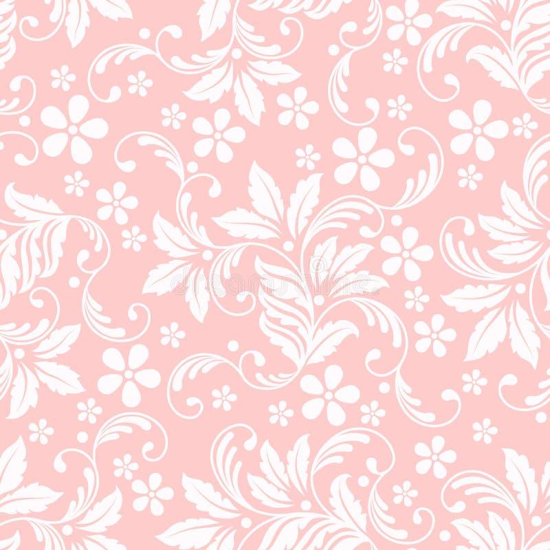 Élément sans couture de modèle de fleur de vecteur Texture élégante pour des milieux Ornement floral démodé de luxe classique illustration libre de droits