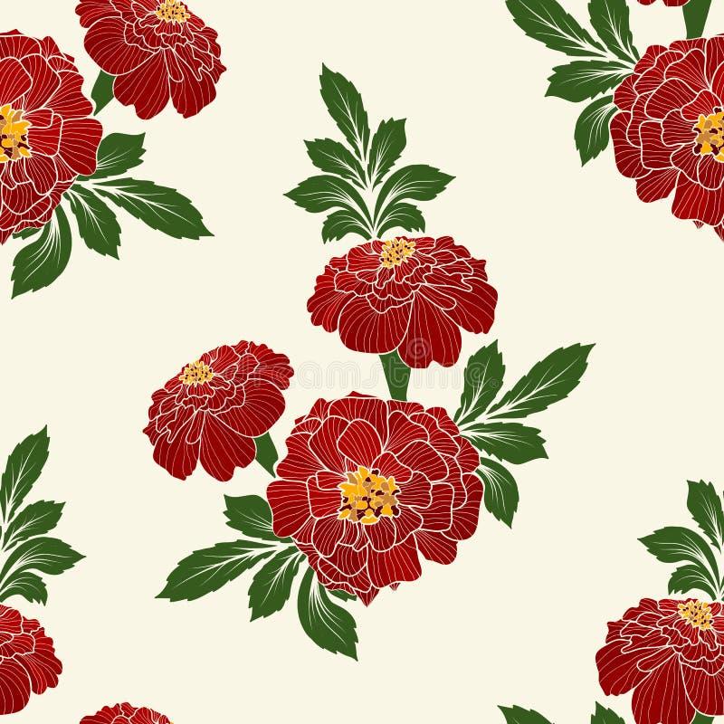 Élément sans couture de modèle de fleur de vecteur Texture élégante pour des milieux Ornement floral démodé de luxe classique illustration stock
