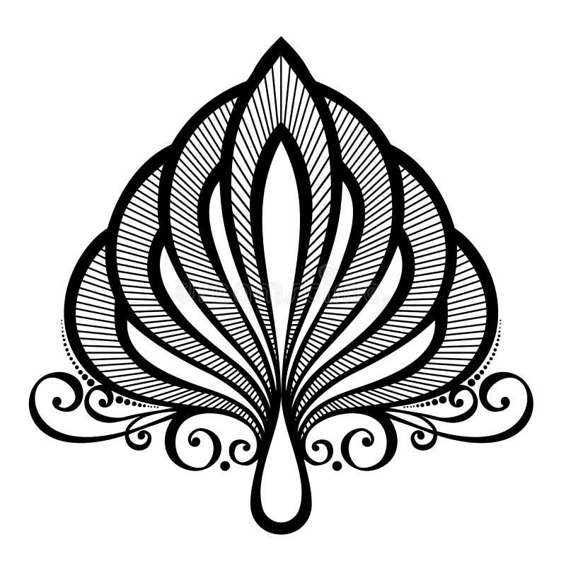 Élément symétrique abstrait de Deco illustration stock